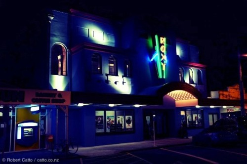 One more Roxy Cinema photo for the day - the sign was lit up for the first time tonight.  Looks pretty good!