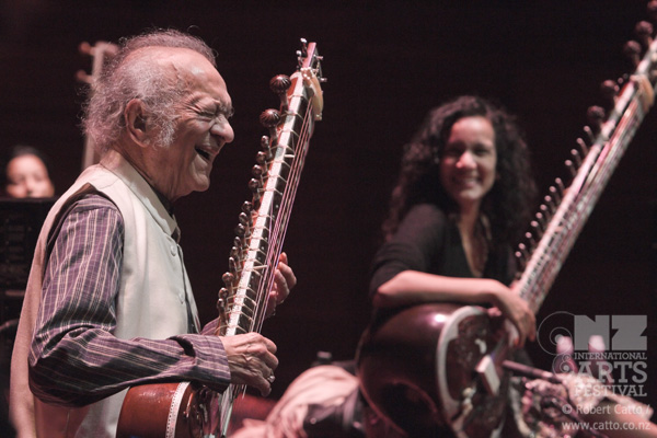 One more gallery from Friday -  Ravi Shankar  (and his daughter Anoushka) sound check at the Michael Fowler Centre…