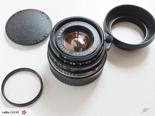 Another lens for sale, this time for Leica M-Mount cameras - this one's the Summicron-C, their tiny little f/2 40mm pancake lens for the Leica CL.  Great, great lens - if I hadn't bought a better one (the 35mm Summilux) I'd certainly be keeping it…