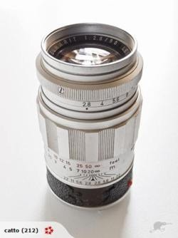 One more lens - this time a Leica 90mm M-Mount Elmarit from the Sixties, a classic chrome look that would be really cool on a Micro 4/3rds camera with an adaptor (to make a 180mm f/2.8 prime!).  Chrome lenses look so cool…