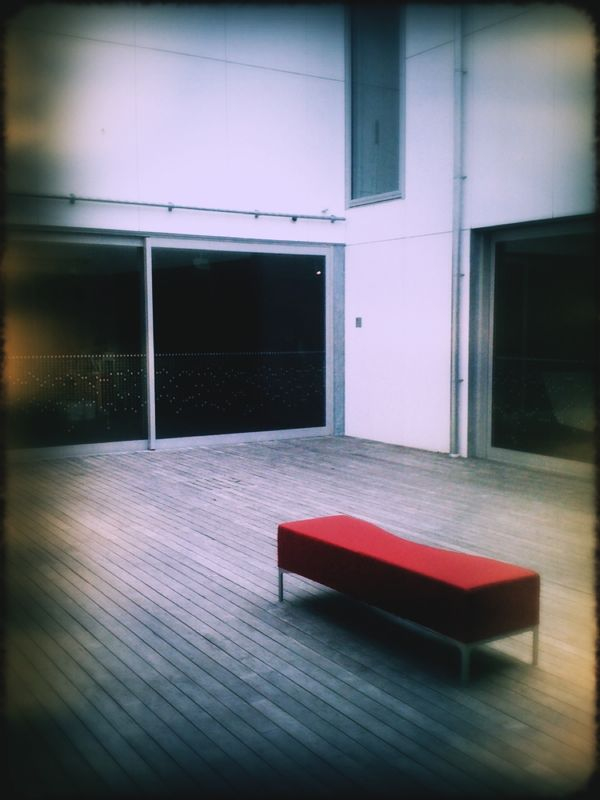 The central courtyard at The New Dowse this afternoon.