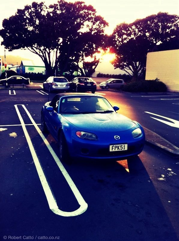 Winter light on a chilly Wellington morning can be a real treat sometimes. This is Elvis, by the way - for anyone who hasn't met our little blue MX-5…