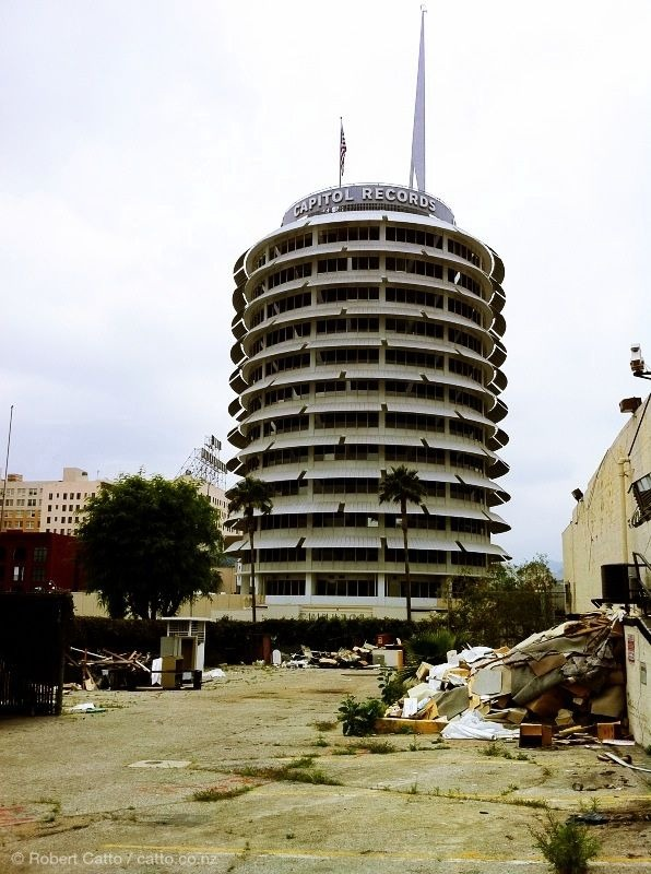 Another one from LA - in the shadow of Capitol Records' iconic building, a vacant lot lies filled with rubbish that looked to have been thrown out the back door of the neighbouring pub.