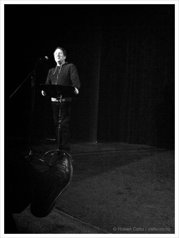 Bill Gosden introducing the NZ Film Festival programme tonight.