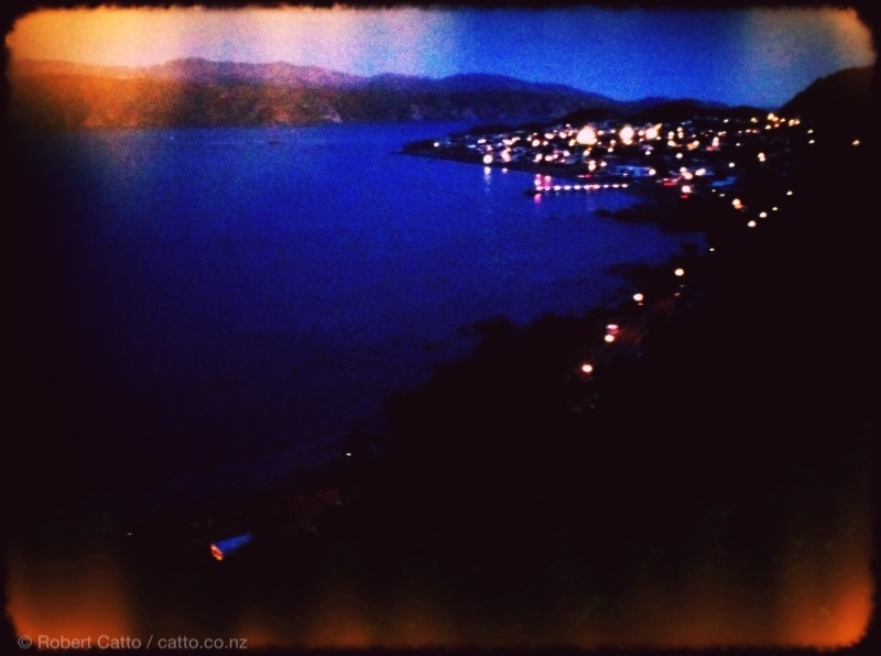 Seatoun after sunset.