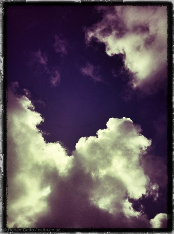 Blue sky. Thinking.