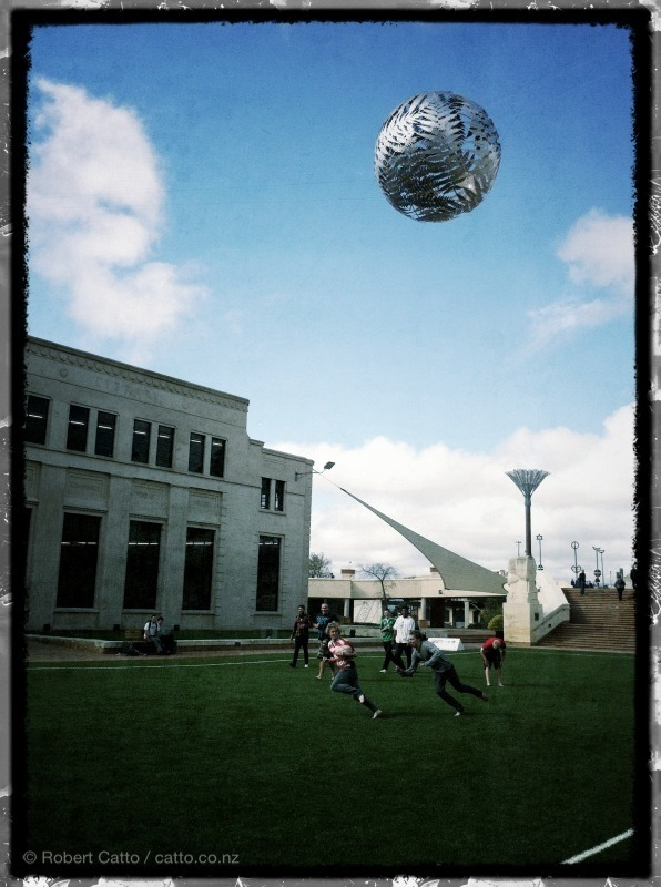 And it's a glorious try for…that guy in a striped shirt, in Civic Square this afternoon.
