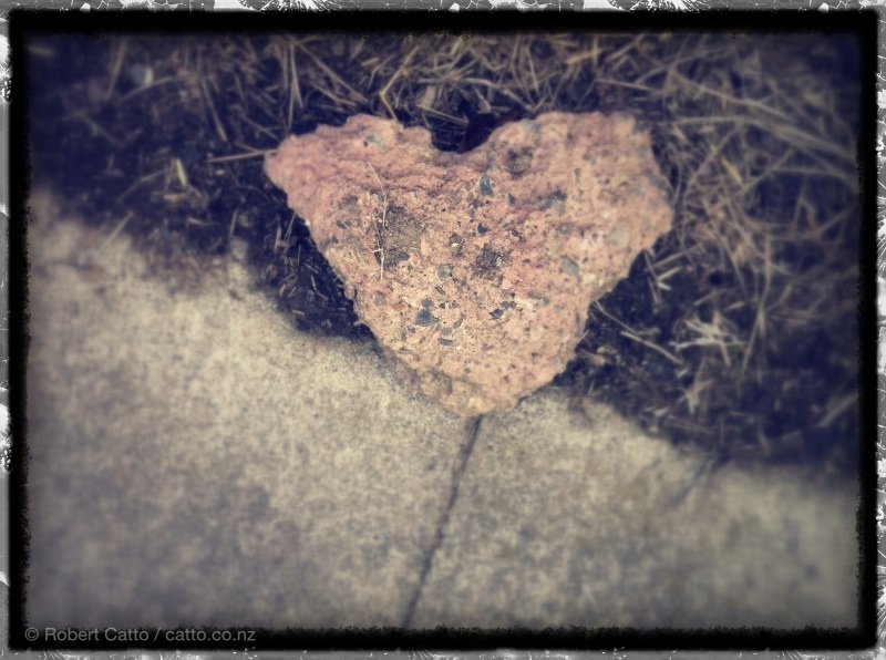 Heart of stone, on Seatoun Heights in Wellington.