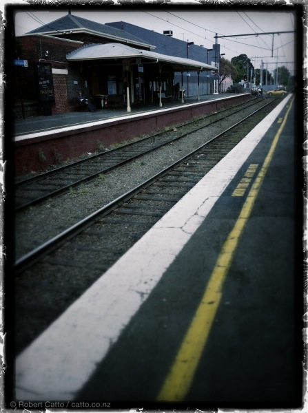 Waiting for the train, Brighton North, Melbourne.