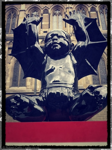 The Winged Demon Baby of Swanston St, Melbourne.