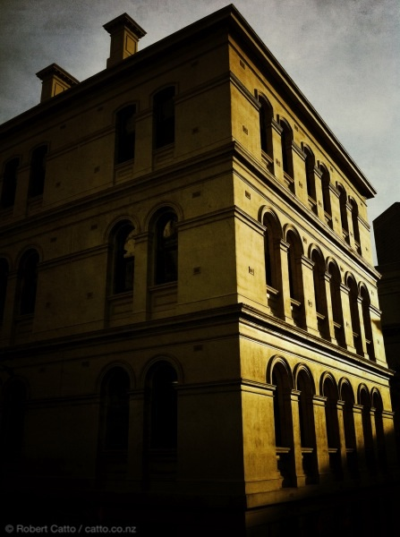 Late sun, St. Andrew's Place, Melbourne.
