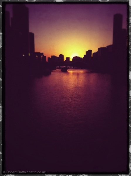 Last sun on the Yarra, tonight in Melbourne.