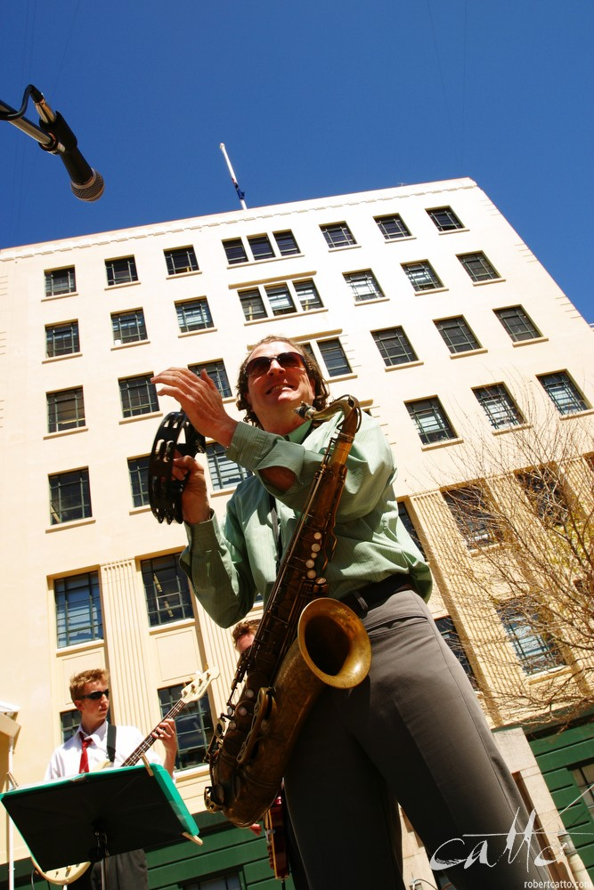 Phil Costello in Civic Square