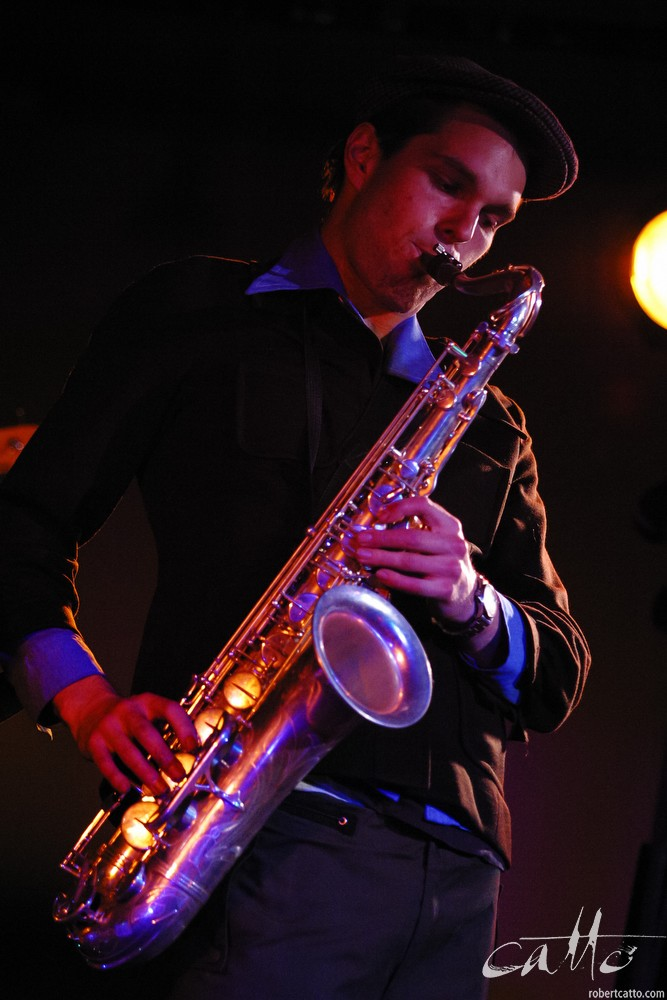 Lucien Johnson plays with Jonathan Crayford's band