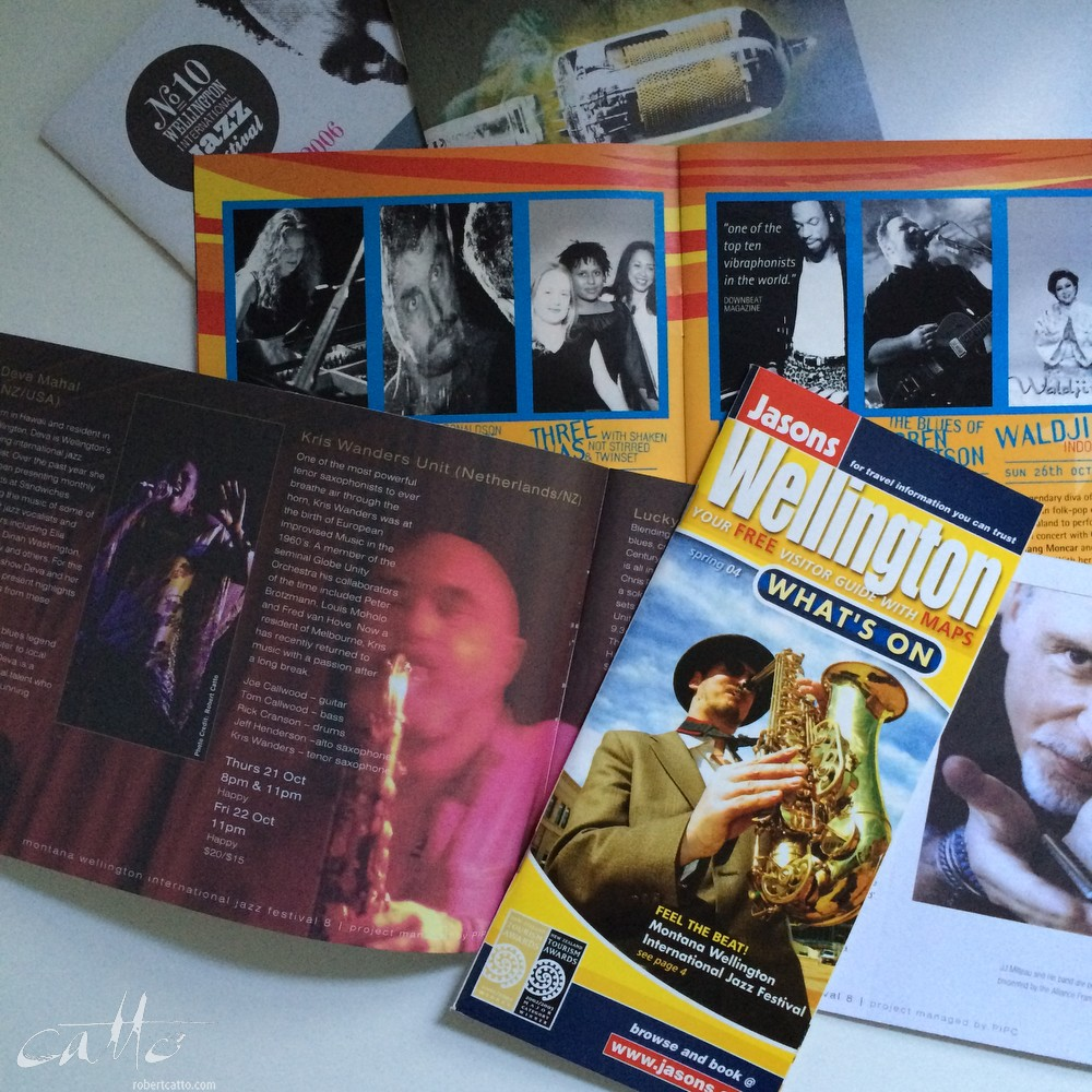 Wellington Jazz Festival brochures 2003-2006