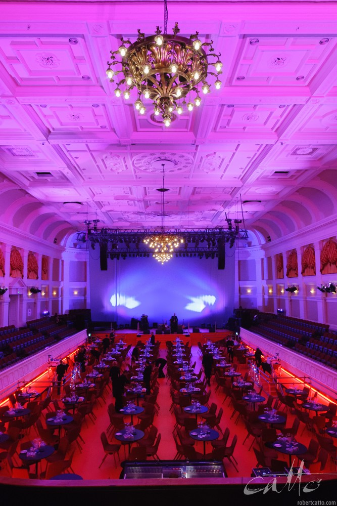The Pacific Blue Note Jazz Club, a purpose built venue within Wellington's Town Hall.