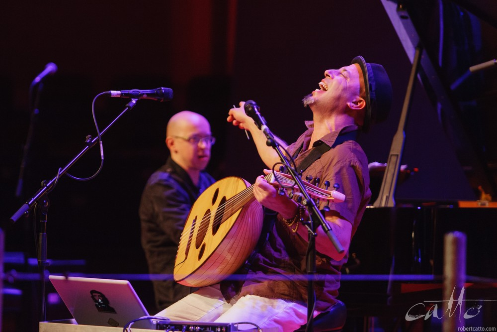 Dhafer Youssuf at the Wellington Jazz Festival, 2009.
