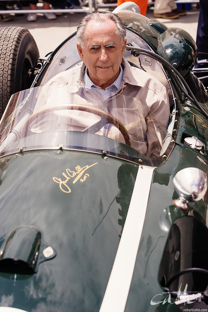 Sir Jack Brabham at the wheel of a 1959 Cooper.