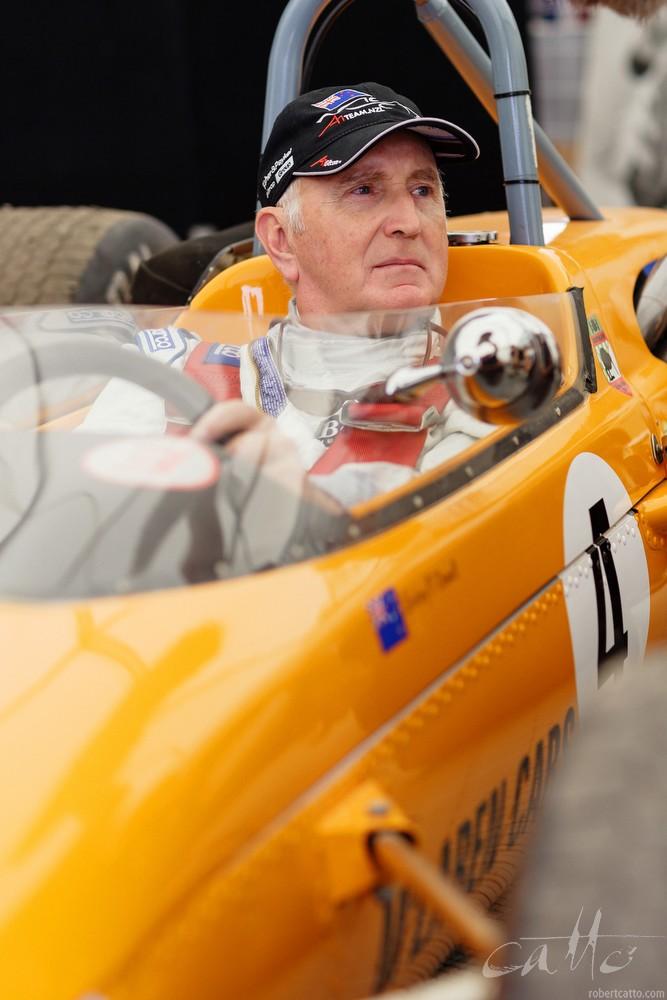 John Watson in a 1967 McLaren M4A