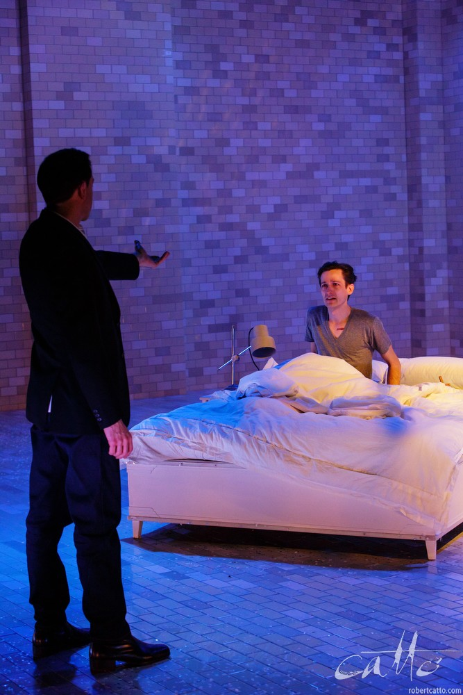 Mitchell Butel and Luke Mullins in  Angels In America, at Belvoir Theatre.