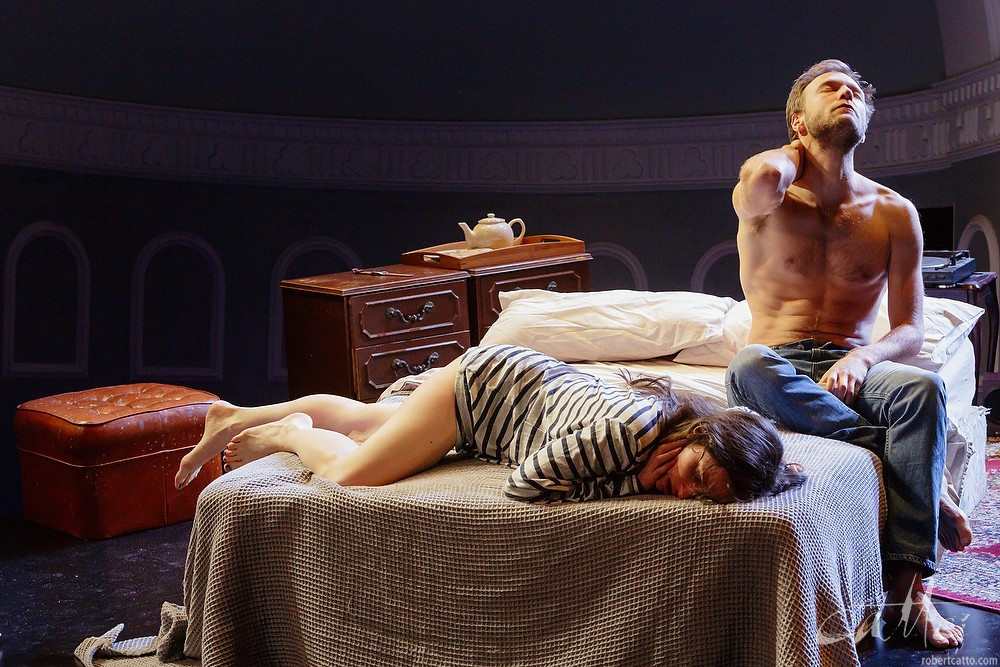 Tom O'Sullivan and Emma Palmer in Ride at the Darlinghurst Theatre Company, Sydney.