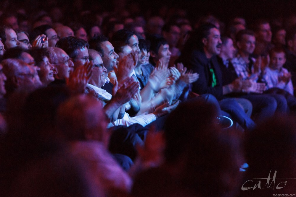 The audience applauds Sonny Rollins at the Wellington Jazz Festival, 2009; taken while standing near the corner of the stage during the performance.