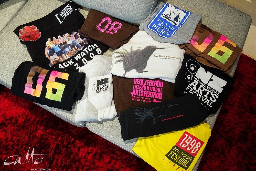 15 years of accumulated Festival t-shirts, 1998-2012