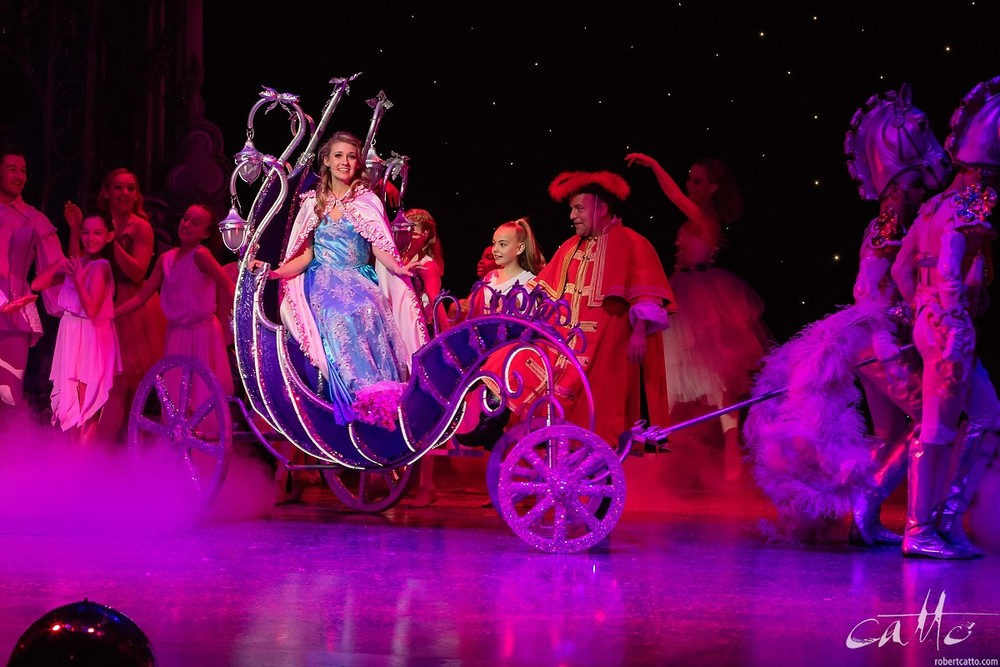 Jaime Hadwen and Kev Orkian in Cinderella.