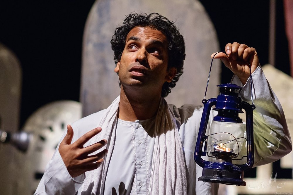 Jacob Rajan in The Guru of Chai, by Indian Ink Theatre Company