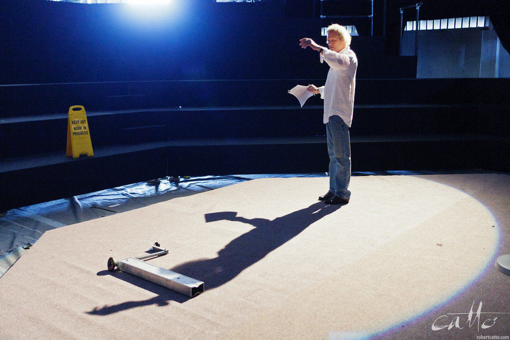 Technical Setup / Production Week - Depending on the production, the technical and design elements can be some of the most interesting aspects of a show; so having images of how things come together can help not just on social media, but for later touring and re-staging of a particular design to different venues, cities, or even other countries - even with different casts, in years to come. This can be particularly important in non-theatrical venues, where the performance space itself is built as part of the show.