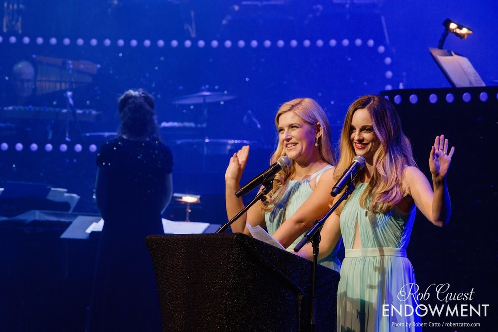 Gala hosts Lucy Durack and Penny McNamee.