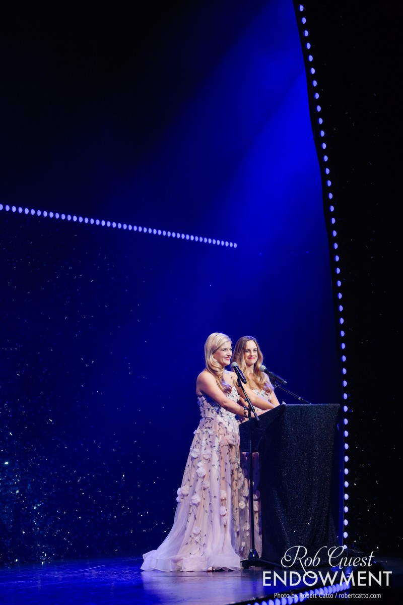Hosts Lucy Durack and Penny McNamee prepare to announce the winners.