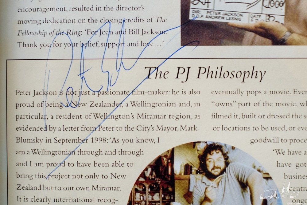 Not my photos on this page, but at least I got PJ to sign it somewhere. (I think he's written in there twice, actually.)