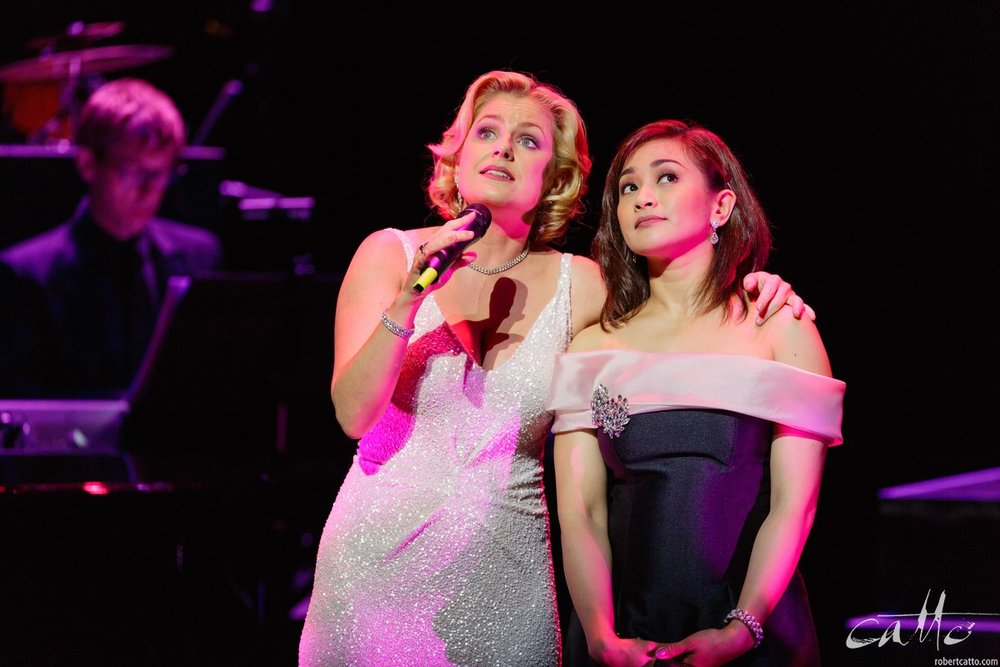 Helen Dallimore and Joanna Ampil in Defying Gravity