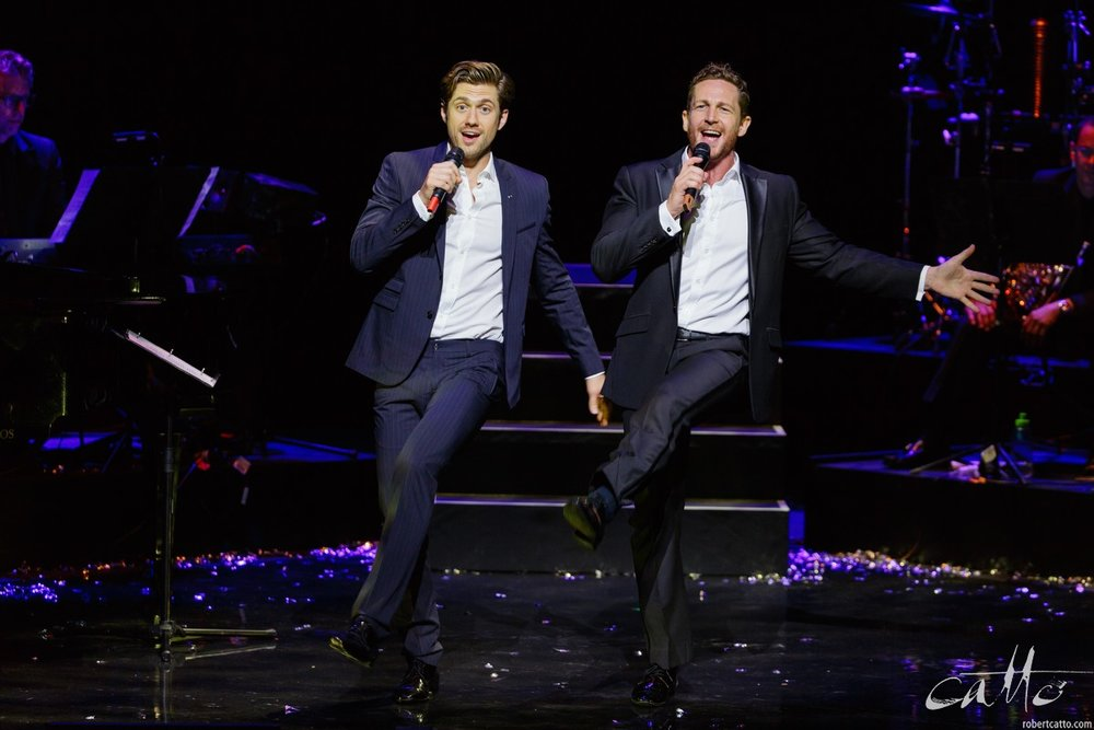 Aaron Tveit and David Harris in Defying Gravity