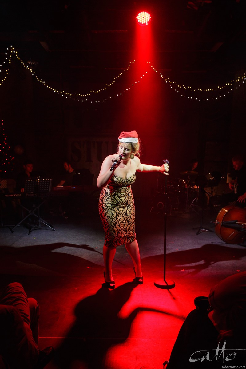 Virginia Gay in Carols by Cabaret at the Hayes Theatre