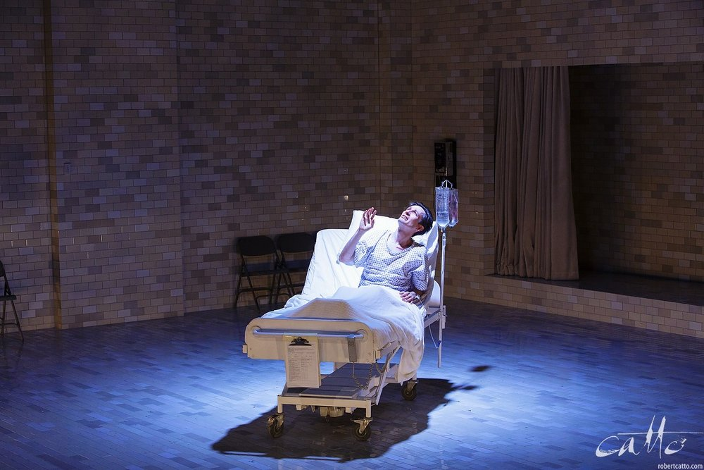 Luke Mullins as Prior Walter in Angels In America Part 1: Millennium Approaches at Belvoir (2013) (click the image to embiggen)