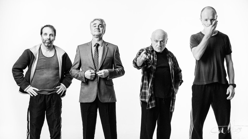 Jamie Oxenbould, Noel Hodda, Danny Adcock and Richard Sydenham in a promotional image for The Dapto Chaser, 2015 (click the image to embiggen)