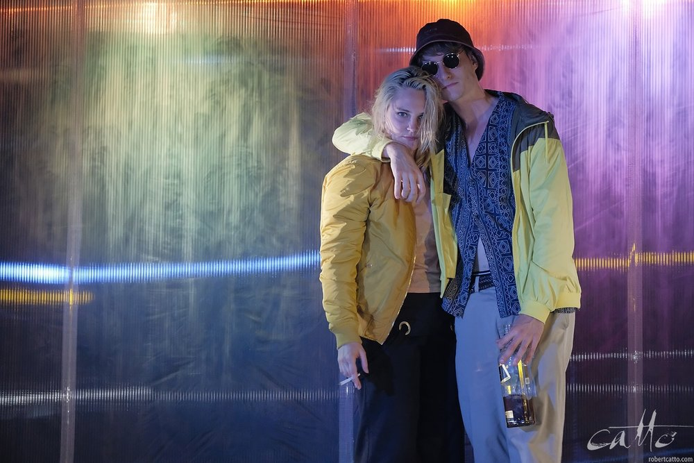 Eliza Scott as Charlotte and Jack Crumlin as Danny in Wasted,at the Factory Theatre, Sydney