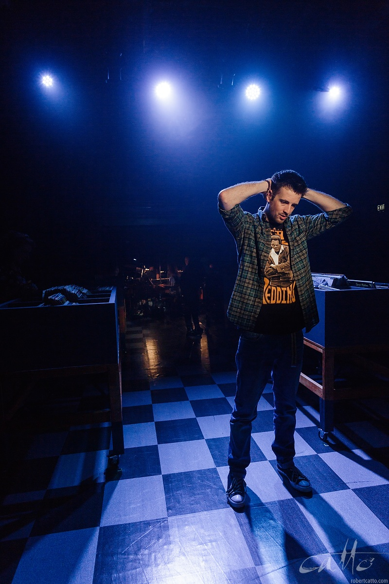 Toby Francis as Rob in High Fidelity at the Hayes Theatre