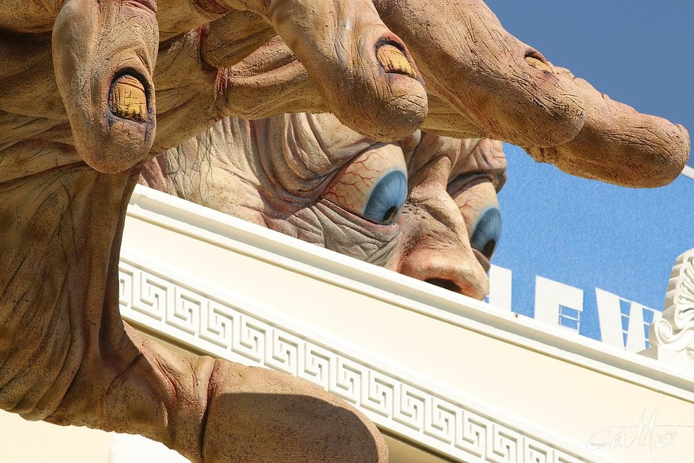 Weta Workshop's sculpture of Gollum sits atop the Embassy Theatre in Wellington