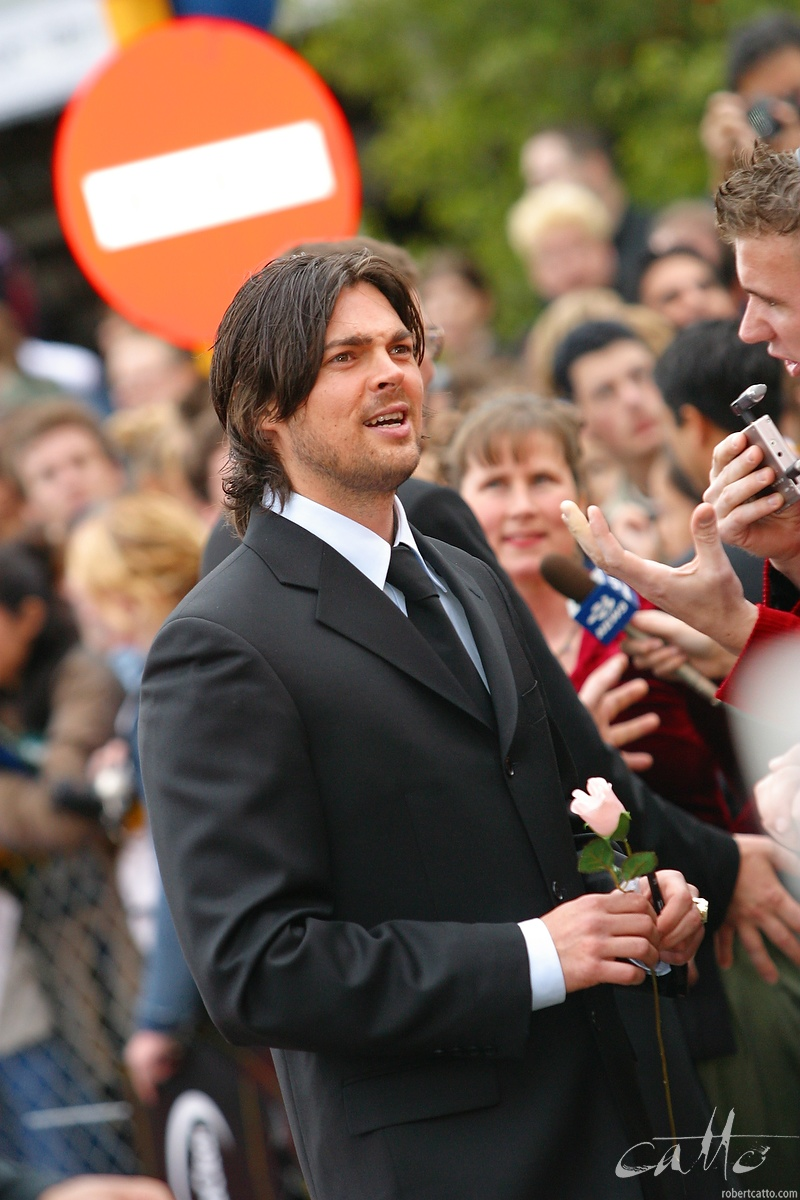 A relatively unknown young actor, Karl Urban, at the Australasian Premiere of The Lord Of The Rings: The Two Towers, at Wellington's Embassy Theatre.