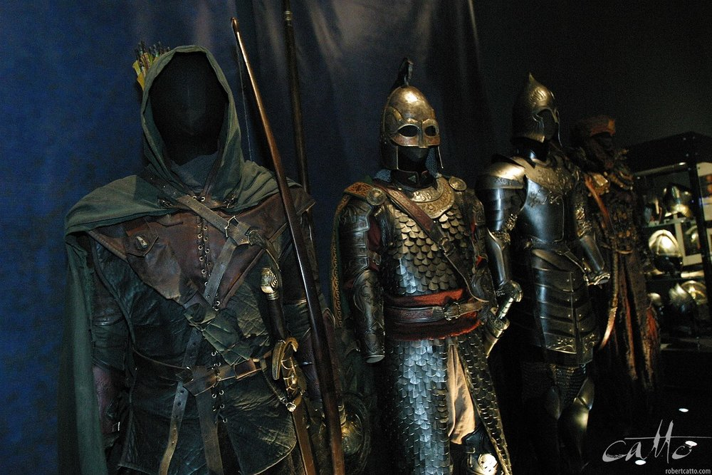 Costumes - including a couple I may have worn myself! - at the Lord Of The Rings exhibition.