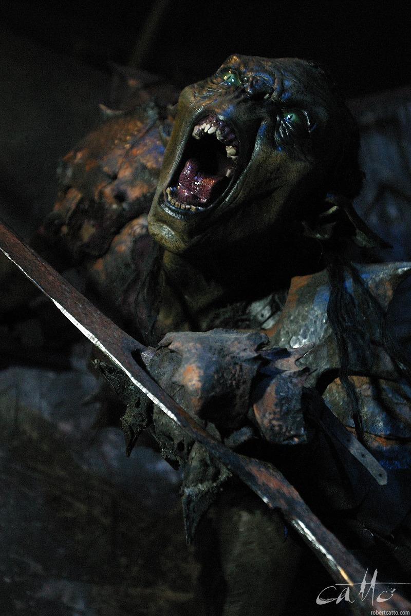 An orc from the mines of Moria, at Te Papa Museum for the Lord Of The Rings exhibition.
