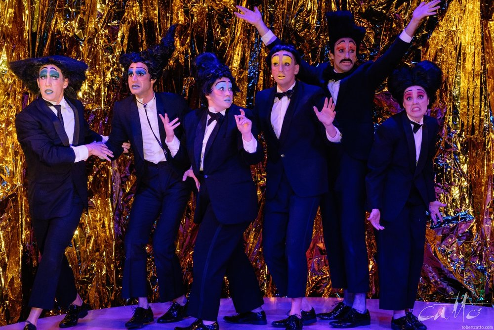 The cast of There Will Be A Climax at the Old Fitz Theatre, Sydney.
