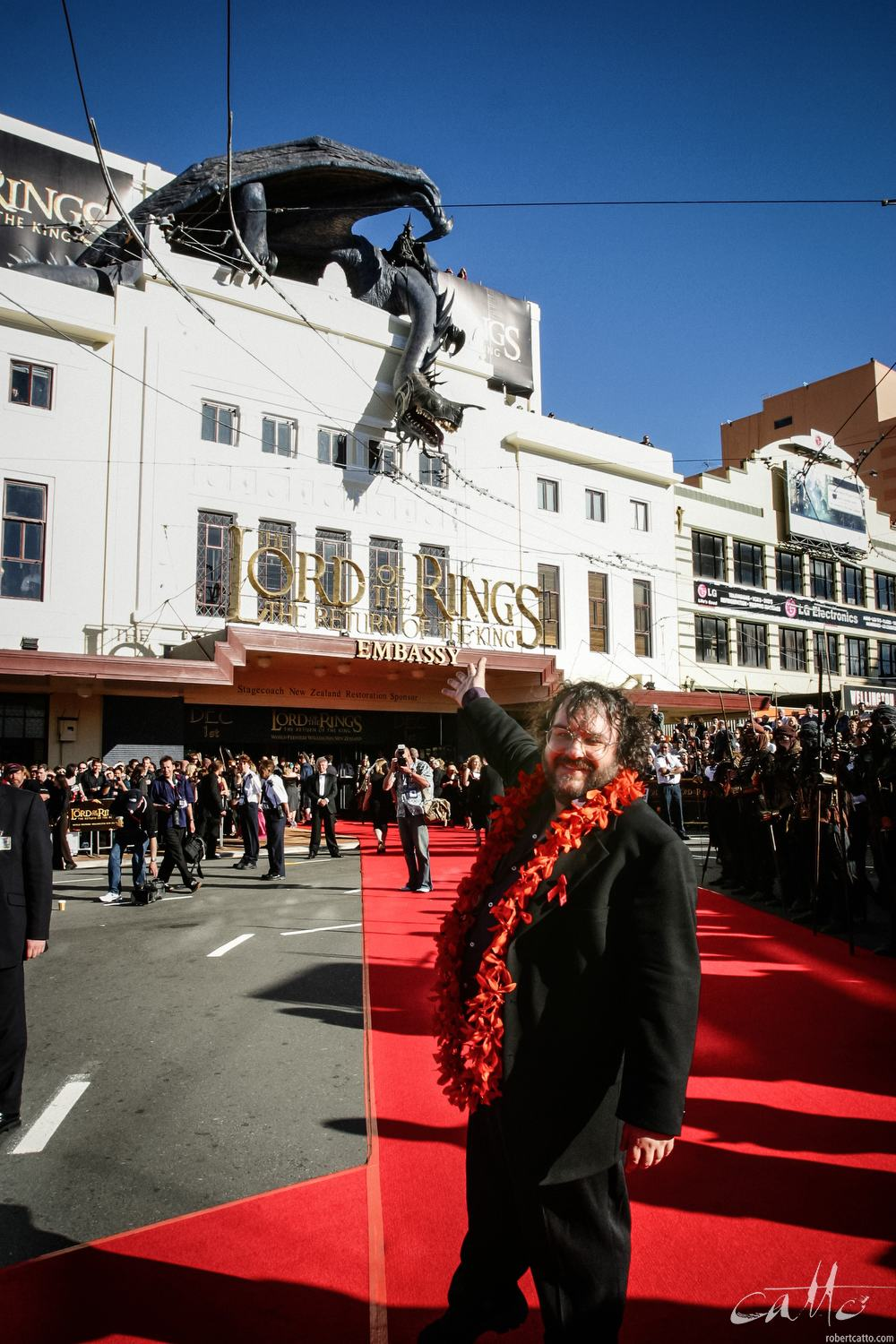 Peter Jackson at the World Premiere of The Lord Of The Rings: Return Of The King, at the Embassy Theatre in Wellington.