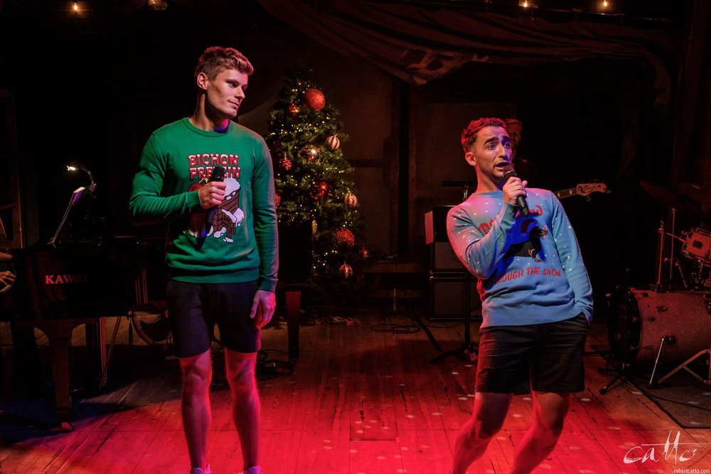 Steven Madsen and Matthew Backer perform I'll Be Home (And Drunk) For Christmas.