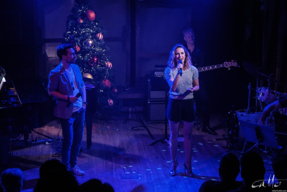 David Hooley and Stef Jones perform Grown Up Christmas List.