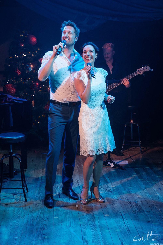 Matt Edwards and Erin James perform Walking In A Winter Wonderland.