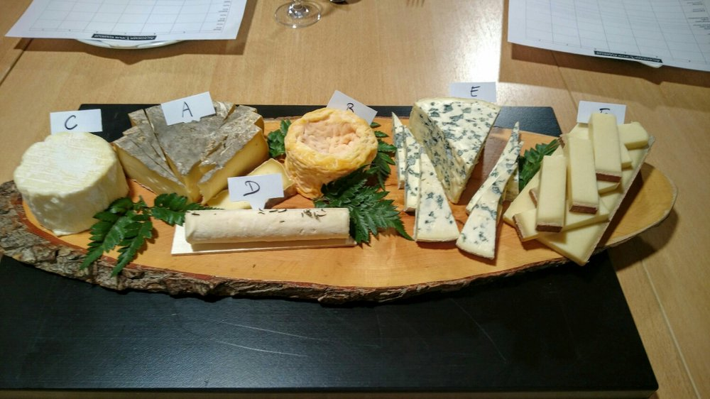 Our first tasting. Recognize any of these cheeses?